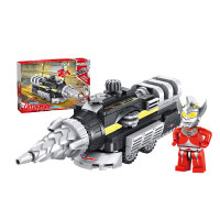 积木儿童玩具奥特曼汽车模型力男孩子3-6周岁8小颗粒拼装玩具