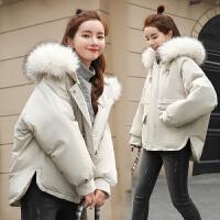 女短款冬季2018新款时尚百搭潮韩版学生宽松原宿风外套棉衣