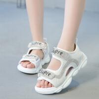 2019夏季新款时尚韩版女童凉鞋小学生公主鞋中大儿童女孩软底鞋