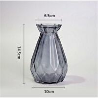 北欧式简约玻璃花瓶透明仿真插花干花摆件水培富贵竹风信子瓶花器 小