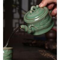 【新品】龙泉青瓷功夫茶具茶壶陶瓷带过滤泡茶壶哥窑冰裂单壶大号茶壶茶器