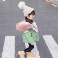 儿童女宝宝加厚冬装棉袄2019新款小女孩洋气童装女童棉衣外套