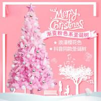 抖音同款圣诞树套餐家用1.5米马卡龙粉色樱花树1.8米大型ins圣诞节装饰品