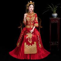 秀禾服新娘2018新款结婚中式女敬酒服婚纱礼服出阁服结婚旗袍嫁衣