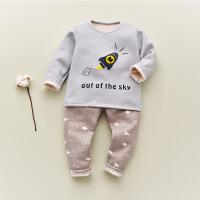 儿童保暖内衣套装加绒加厚冬季0幼儿1男女小童3婴儿宝宝家居服5岁