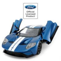 星辉福特GT1遥控汽车双开门充电漂移跑车遥控赛车模男孩儿童玩具 福特GT1【1:14大号 USB充电款】-蓝色 官方标