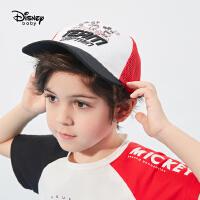 618【2件4折:31.6元】迪士尼童装男童网眼帽2021新款洋气儿童宝宝卡通米奇梭织休闲帽子