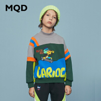 【2件3.5折券后价:162】MQD童装男童半高领加绒加厚卫衣2020冬装新款儿童休闲图案卫衣潮