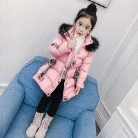 女童棉衣冬装2018新款韩版童装中大童棉袄冬季儿童中长款棉服加厚