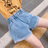 2019夏季新款潮儿童洋气破洞牛仔裤外穿女孩百搭裤子女童夏装阔腿短裤
