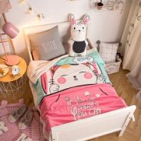毛毯被子法兰绒珊瑚绒毯季幼儿园儿童小毯子婴儿空调毯盖毯定制 120cmX150cm