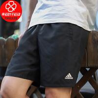 Adidas/阿迪达斯男裤新款宽松舒适透气五分裤跑步健身训练运动短裤DU1577