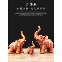 大象摆件风水象客厅装饰品现代简约乔迁新居礼品送朋友 _象组合装