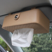 创意车载车用纸巾盒汽车内饰用品遮阳板挂式天窗椅背扶手箱抽纸盒