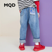 MQD童装男童破洞牛仔裤长裤2019秋装新款中大儿童宽松牛仔裤韩版
