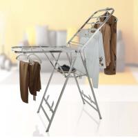 晾衣架落地折叠不锈钢翼型家用晒衣架阳台室内移动尿布架凉挂衣架