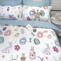全棉简宿舍儿童单人床三件套棉床上用品四件套床单款 2.0m(6.6英尺)床 床笠款套件