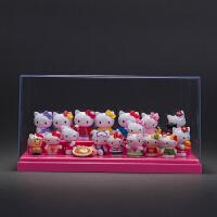 holle kitty凯蒂猫摆件日本公仔玩具哈喽KT猫手办玩偶汽车摆件Q版 +中粉盒 按选项发货