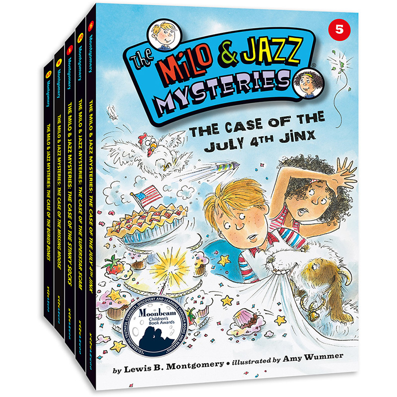 MJ小侦探精选(5册) 美国原版儿童侦探故事书,小学生英语读物,获美国月光童书奖,美国小学老师、图书馆馆员推荐,锻炼逻辑力、思考力、解决问题能力、英语阅读能力。附脑筋急转弯、逻辑谜题、迷你案件。——爱心树童书出品