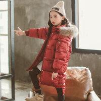 女童棉服2018新款韩版洋气冬装大儿童中长款棉衣女孩冬季棉袄外套