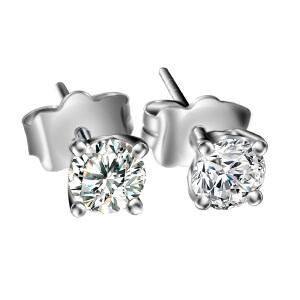 梦克拉  18K金钻石耳钉 倚丽 每对20分 耳环  可礼品卡购买