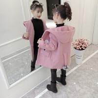 2019新款韩版时尚洋气中大童加厚呢子大衣女童冬装毛呢外套