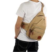 简约韩版潮帆布包背包 帆布男胸包单肩斜跨休闲胸包