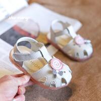 幼儿公主鞋2019夏季新款宝宝鞋子1-3岁女婴儿凉鞋软底学步鞋