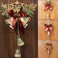 圣诞铃铛圣诞树挂件商场就点橱窗吊饰场景金银色圣诞节装饰品