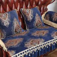 欧式沙发垫防滑新款123组合三件套坐垫布艺四季通用北欧