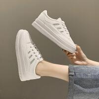秋季内增高小白鞋女百搭厚底运动板鞋秋款休闲透气鞋子潮