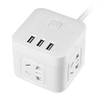 创意插排多功能usb电源插座5米线排插线板家用接线板拖线板多插孔安全升级 W8046白 5米