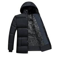 秋冬季中年棉衣男士爸爸装外套中老年人爷爷装加绒加厚棉袄子 黑毛内胆 L建议(体重100-120斤)