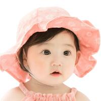 0-3-6-12个月男女宝宝盆帽遮阳童帽夏季婴儿帽子帽渔夫帽