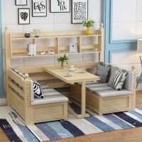 沙发床实木可折叠客厅多功能两用小户型1.2双人儿童床带书桌书柜