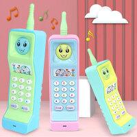 大哥大儿童玩具手机婴儿女孩宝宝仿真电话可咬防口水0-1-3岁