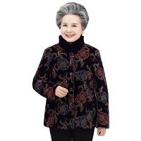 老年女装冬季加厚三层棉衣奶奶装老人衣服女60~70~80加厚套装