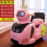 儿童电动车遥控四轮童车可坐小孩摇摆卡通婴幼儿宝宝玩具汽车zf10