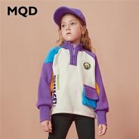 【折后券后�A估�r:144】MQD童�b女童加�q加厚立�I�l衣2020冬季保暖�和��n版��松�l衣潮