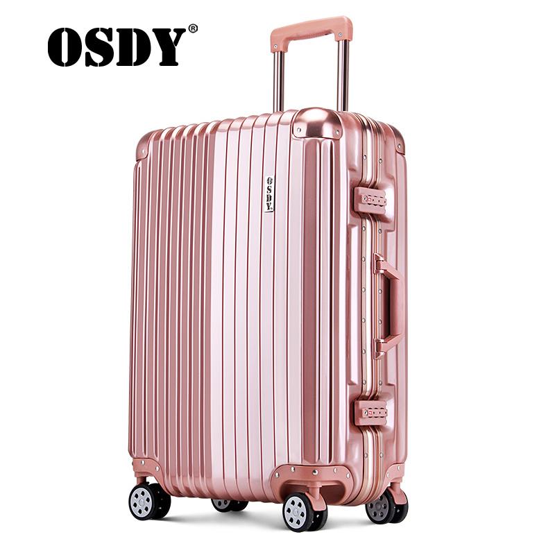 【可礼品卡支付】OSDY旅行箱铝合金边框金属包角防撞拉杆箱 铝框行李箱 20寸登机箱 A6111升级只为品质,用心只为更长久