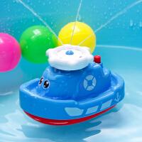 宝宝洗澡玩具儿童玩水电动喷水小船男女孩浴室沐浴泡澡玩具小轮船