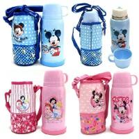 包邮!迪士尼保温杯500ML不锈钢保温瓶 保温杯携式3208 配杯套 多色可选!