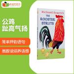 凯迪克图书专营店?英文原版绘本?The Rooster Struts 纸板 英语启蒙