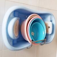 卫生间置物架免打孔浴室不锈钢脸盆架壁挂脸盆收纳架挂墙式盆架子 大号壁挂不锈钢免钉胶