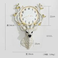 【新品】北欧装饰鹿头挂钟客厅个性创意时尚电子钟表家用艺术现代简约大气 BG-9966鹿头时钟 白色 其他