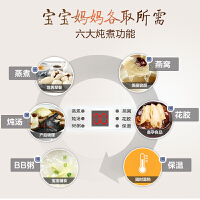 小熊电炖锅家用隔水炖燕窝炖盅煮粥神器陶瓷煲汤小炖锅官方旗舰店