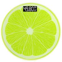 家用卡通电子称体重秤可爱迷你婴儿减肥秤人体称重器 柠檬秤(28cm电池款)