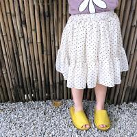 【59元2件】纽豆儿童夏装波点雪纺裙子新款大褶短裙薄款宝宝半身裙