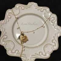 永生项链礼盒黄玫瑰淡水珍珠永生复古白玫瑰干镀金项链 巴黎黄玫瑰