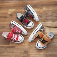 【3折价:69.9元】回力童鞋旗舰店儿童帆布鞋男童涂鸦布鞋女童2020春款中大童鞋子潮